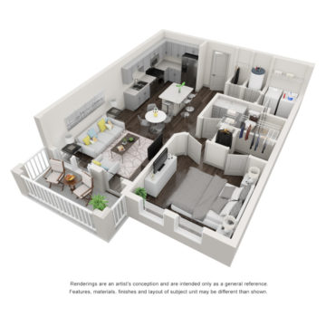 Apartment 1-107 floor plan