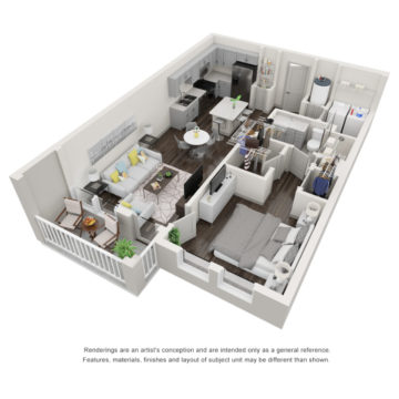 Apartment 3-411 floor plan