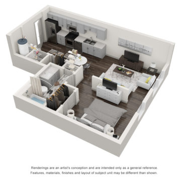 Rendering of the The Castaway floor plan layout