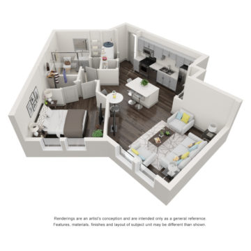 Apartment 3-206 floor plan